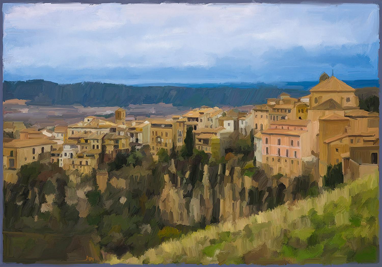 Cuadro de Jorge Marsá: Nubes sobre Cuenca