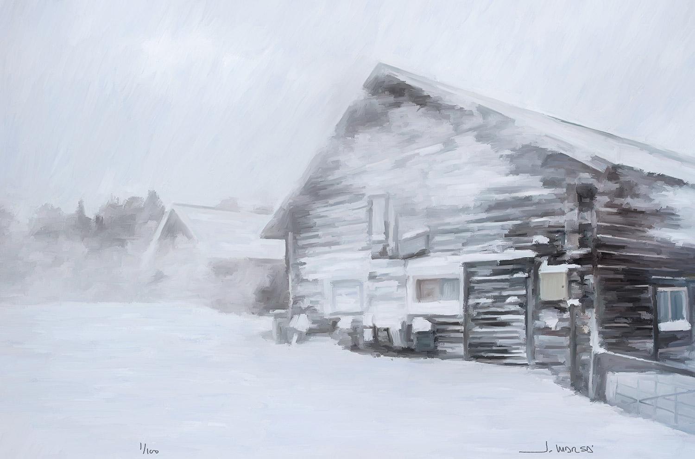 Pintura digital de Jorge Marsá titulada Muy al Norte