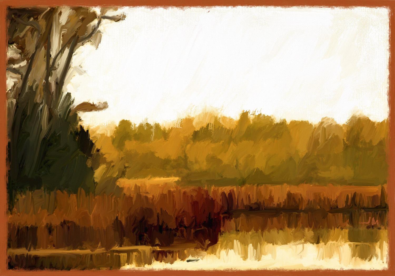Pintura digital de Jorge Marsá: River I