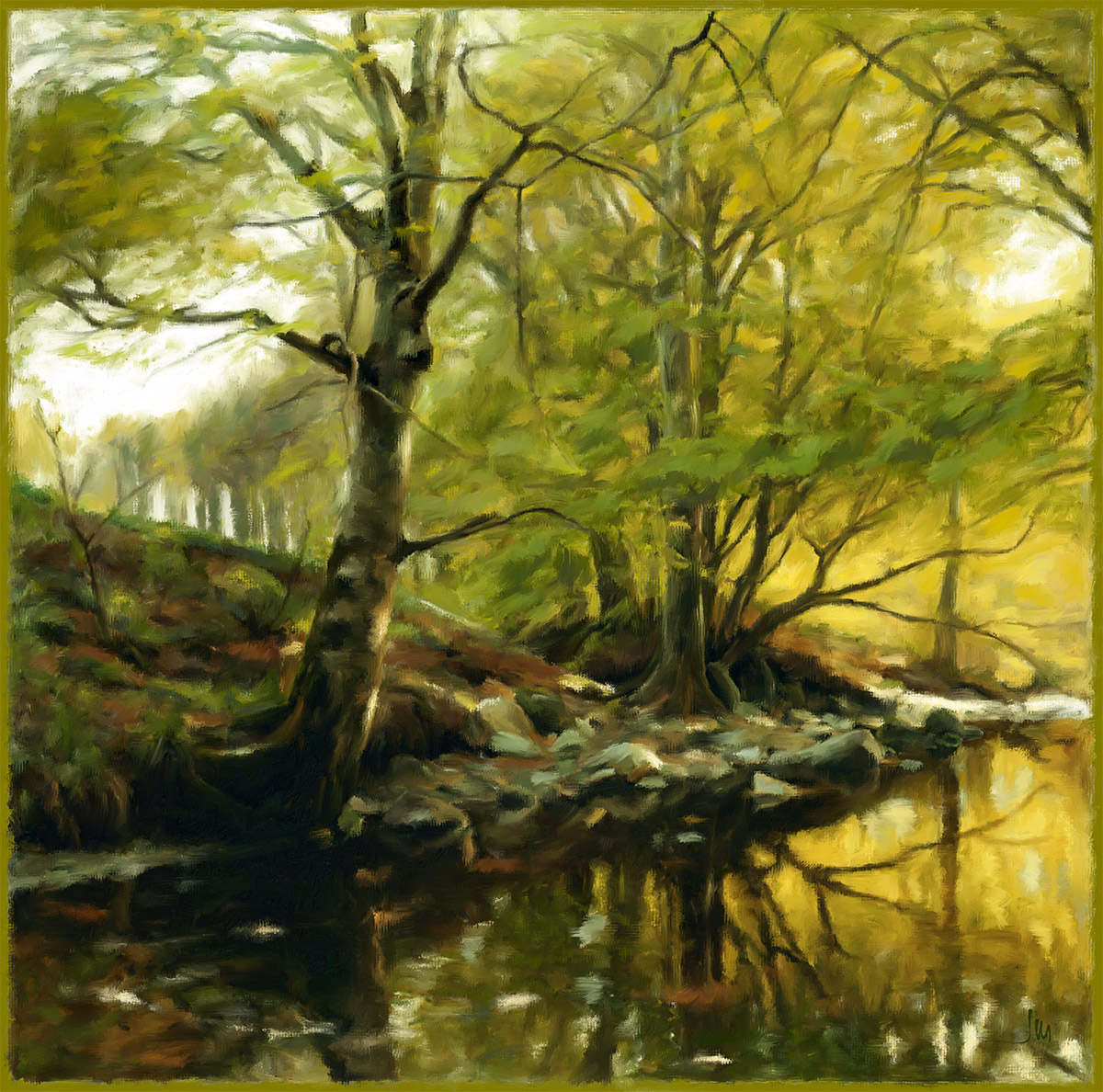 Pintura digital de Jorge Marsá: River II
