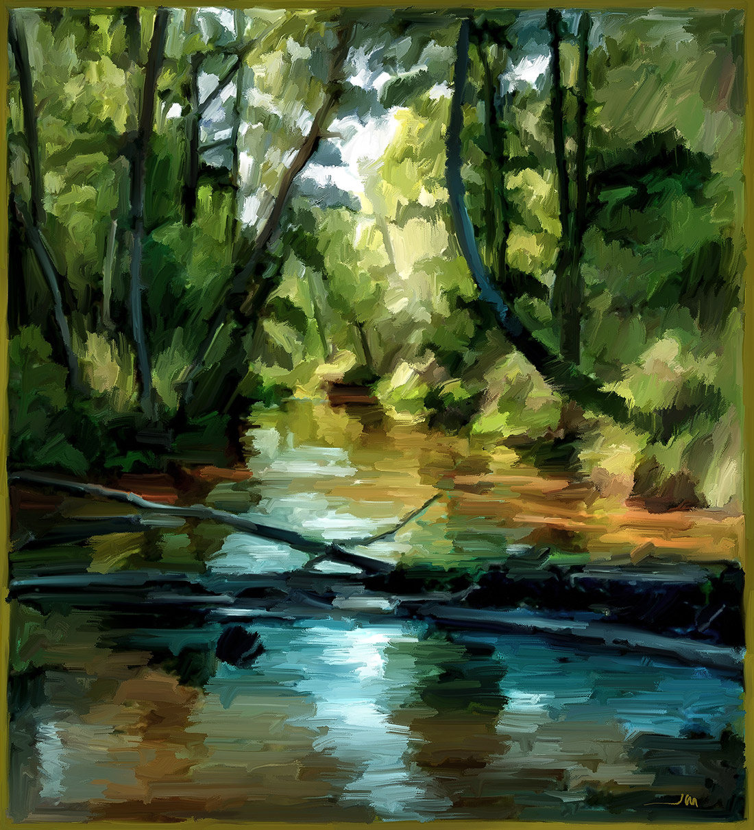 Cuadro de Jorge Marsá: River III