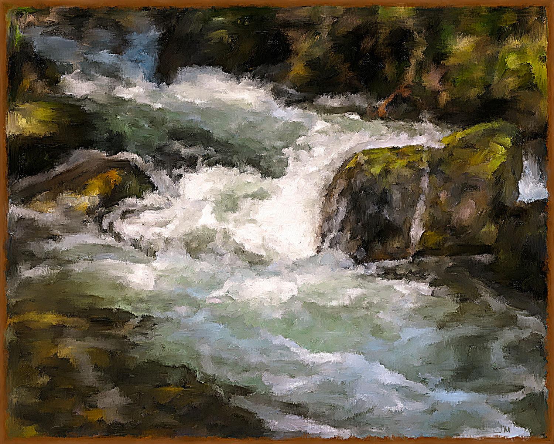 Pintura digital de Jorge Marsá: River IV