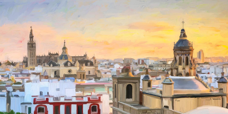 Cuadro de Jorge Marsá: Sevilla desde Las Setas