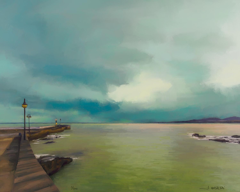 Pintura digital de Jorge Marsá En el Puerto de Arrieta
