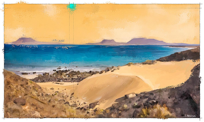 Cuadro de Jorge Marsá de la Playa del Risco
