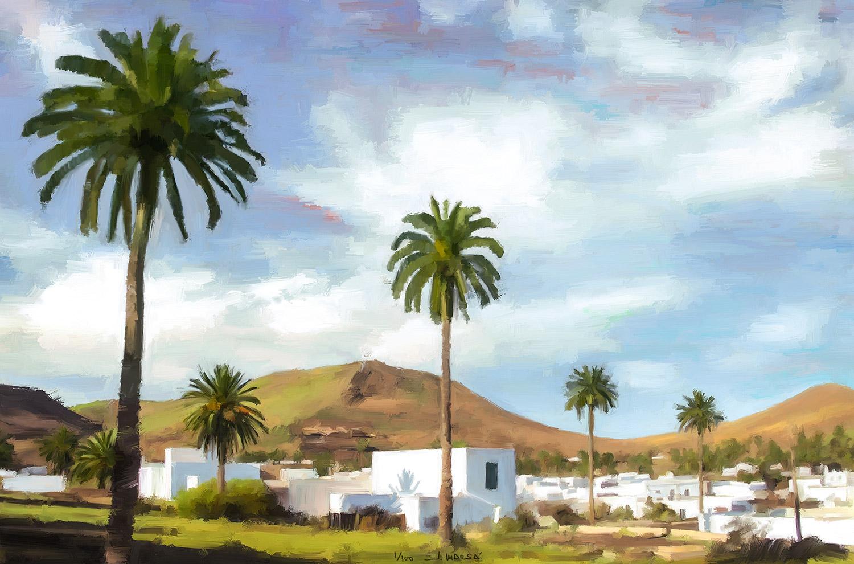 Cuadro de Jorge Marsá: En el valle de las 1.000 palmeras