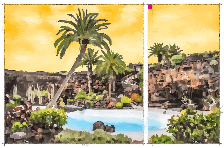 Pintura digital de Jorge Marsá de Jameos del Agua II