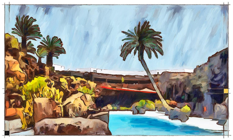 Pintura de Jorge Marsá de Jameos del Agua