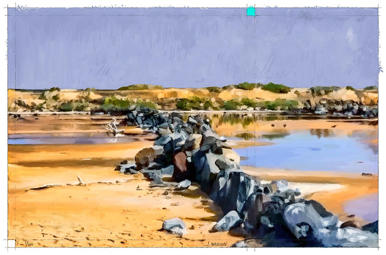 Pintura de Jorge Marsá de las Salinas del Risco