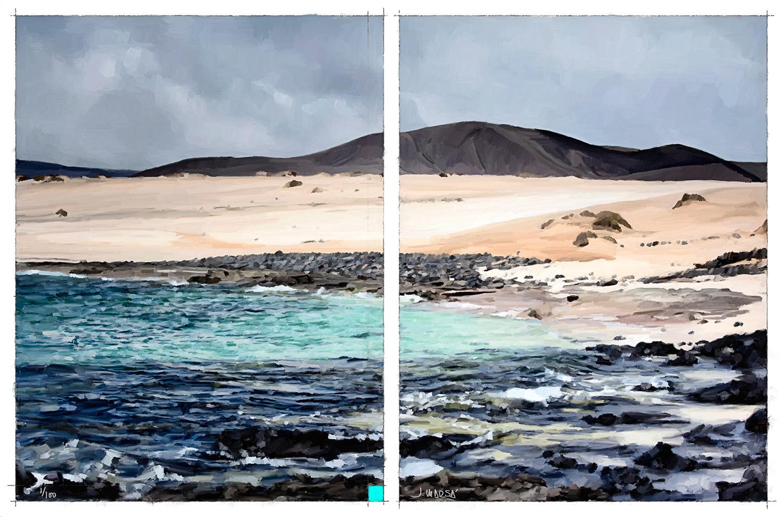 Pintura digital de Jorge Marsá de Playa Lambra