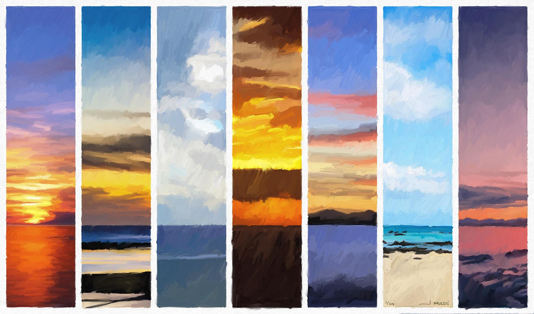 Pintura digital de Jorge Marsá: Cielos de Lanzarote