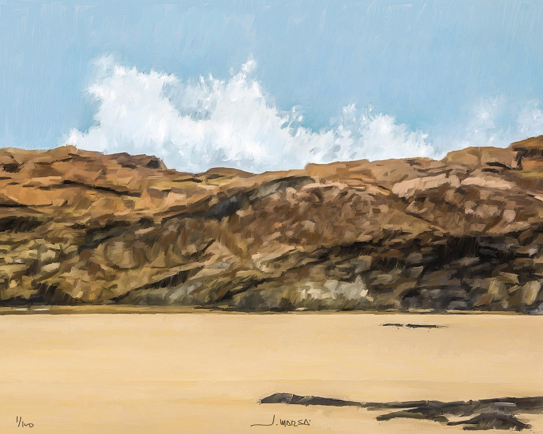 Pintura de Jorge Marsá de Olas en Fuerteventura