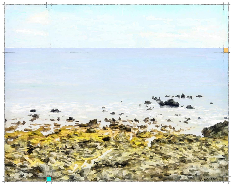 Pintura de Jorge Marsá: En la orilla de Arrieta