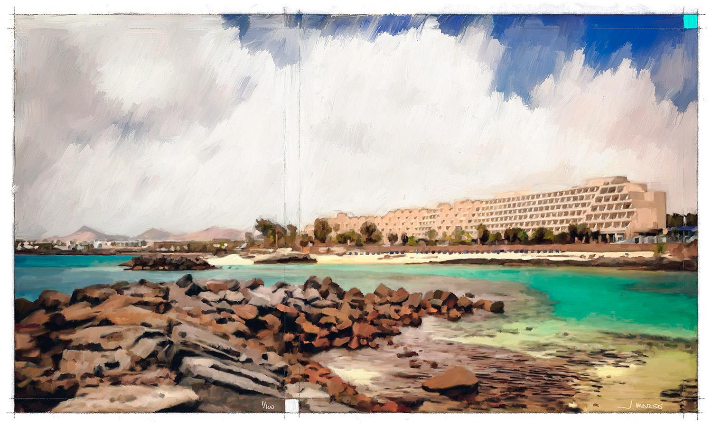 Pintura de Jorge Marsá del Hotel Teguise Playa
