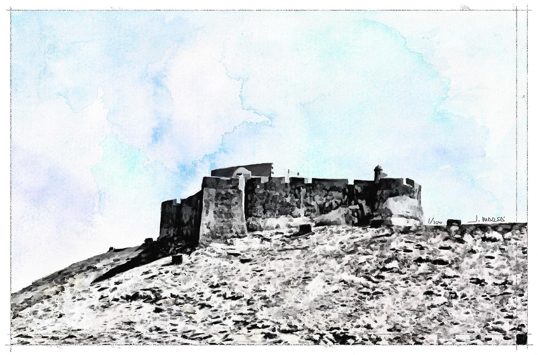 Cuadro de Jorge Marsá del Castillo de Guanapay