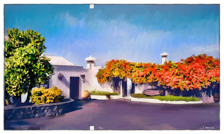 Pintura de Jorge Marsá de Buganvilla en la Fundación César Manrique
