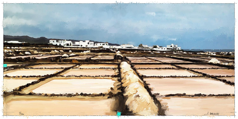 Cuadro de Jorge Marsá de las salinas de Guatiza