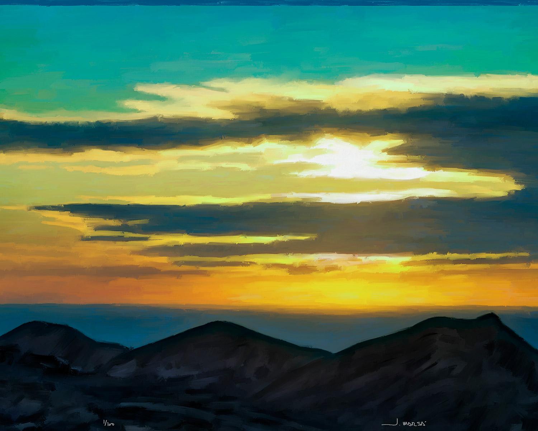 Pintura digital de Jorge Marsá de Horizonte desde Montaña Guardilama