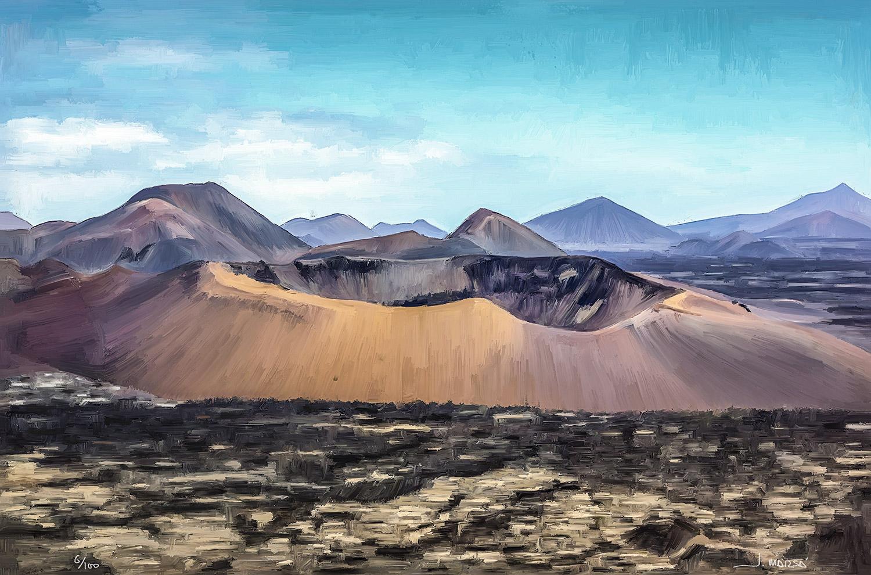 Pintura digital de Jorge Marsá Caldera del Corazoncillo