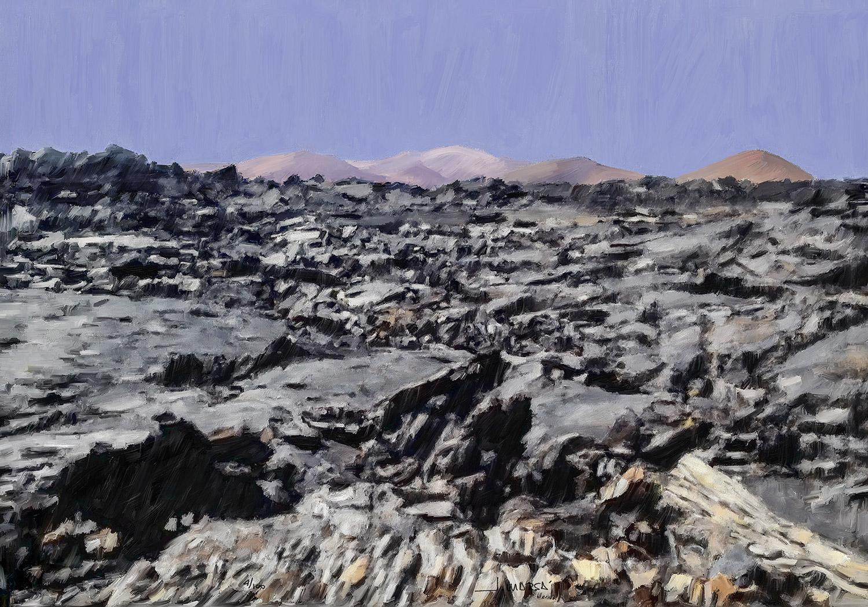 Pintura de Jorge Marsá de Timanfaya por Tremesana