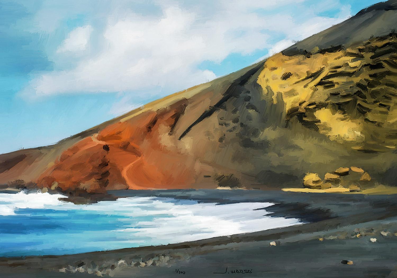 Pintura digital de Jorge Marsá de El Golfo