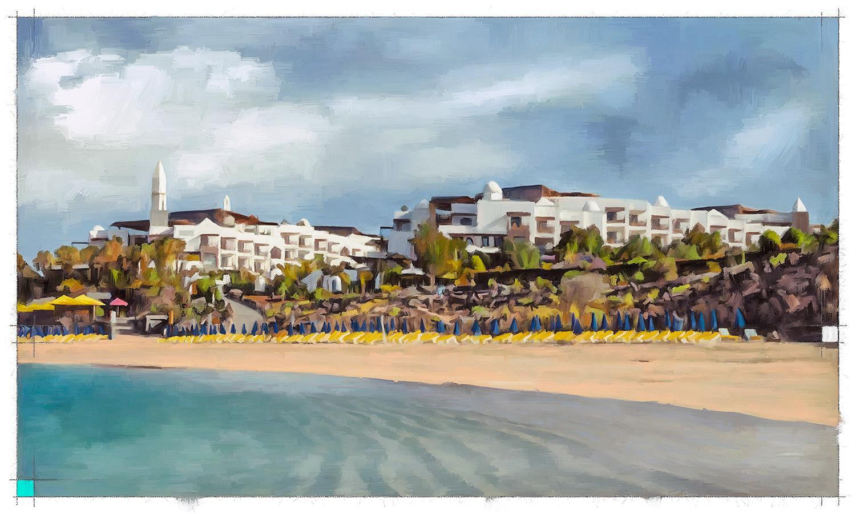Pintura de Jorge Marsá del Hotel Princesa Yaiza