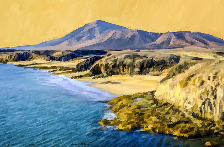 Pintura digital de Jorge Marsá de Playas de Papagayo II