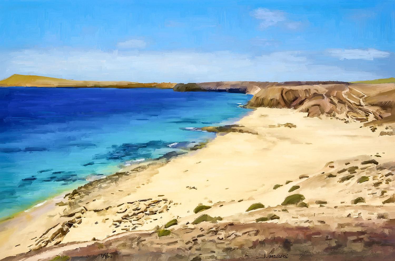 Cuadro de Jorge Marsá de Playa de la Cruz en Papagayo